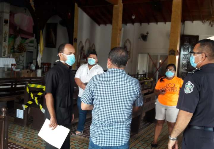 Salud inspecciona iglesias en Chitré para reapertura