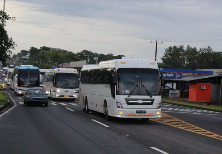 Nicaragüenses llegan a Chiriquí para traslado ordenado hacia su país