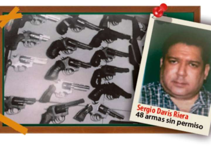 Sergio Davis en investigación por tráfico de 48 armas