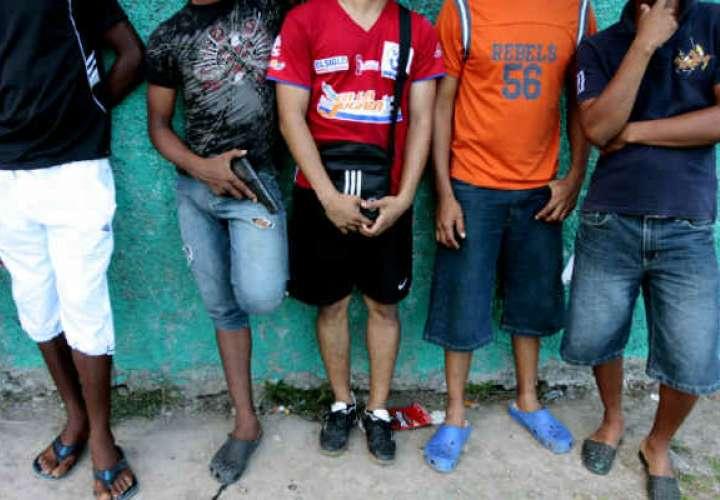 "A la chirola 9 miembros de pandilla ""Tropa de Chombo Branda"""