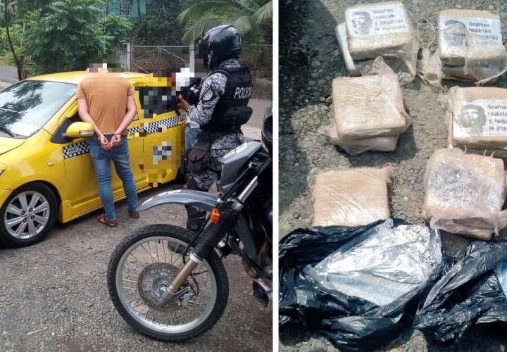 Pescan a un taxista y a su compinche transportando 13 paquetes de droga