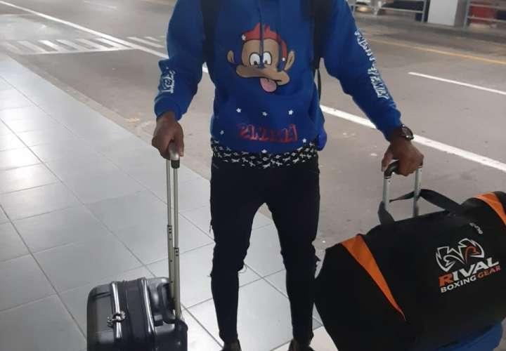 Jaime Arboleda en el aeropuerto de Miami.