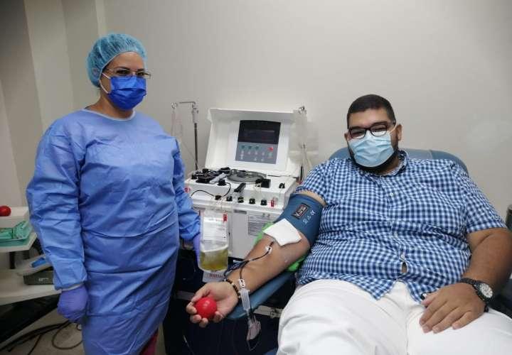 Primera donación de plasma convaleciente en Herrera