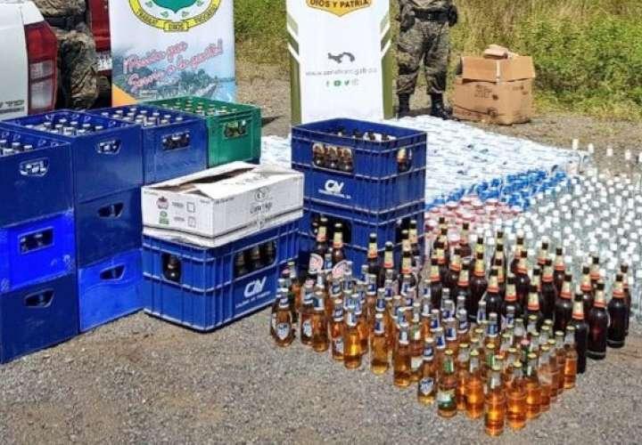 Destruyen licores y cervezas en Chiriquí
