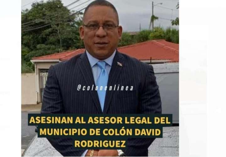 Asesinan abogado, asesor legal del Municipio de Colón