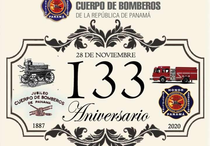 Bomberos celebran 133 años de fundación