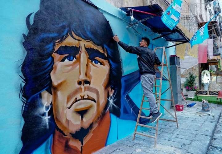 Homenaje a Diego Maradona. /EFE