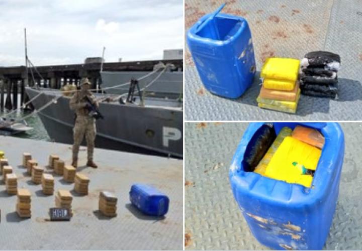 Decomisan 142 paquetes de droga y dos detenidos en isla San José