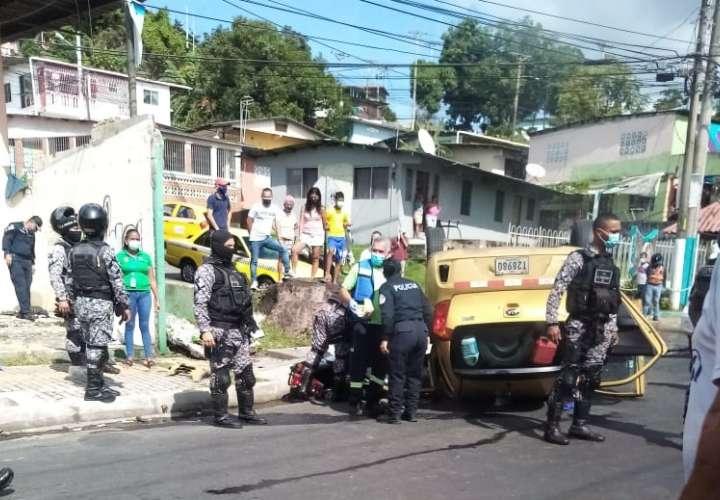 Los heridos fueron traslados a un centro médico.