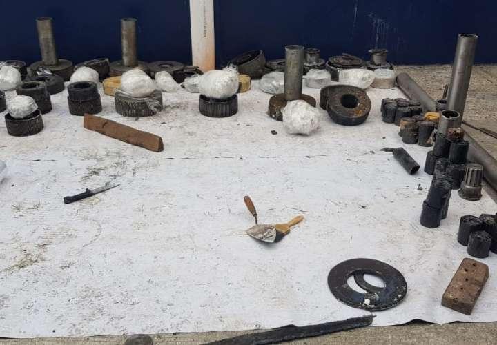 Eran 55 kilos de cocaína lo embalado en piezas de propela