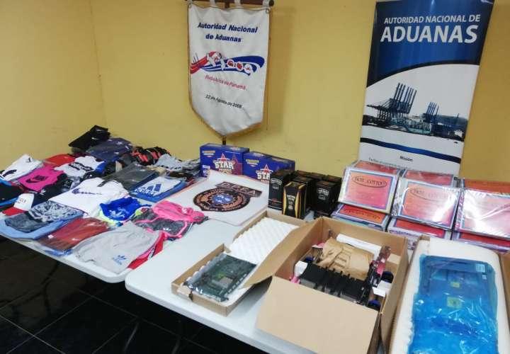 Decomisan  whisky, quesos y piezas de cajeros automáticos en San Isidro