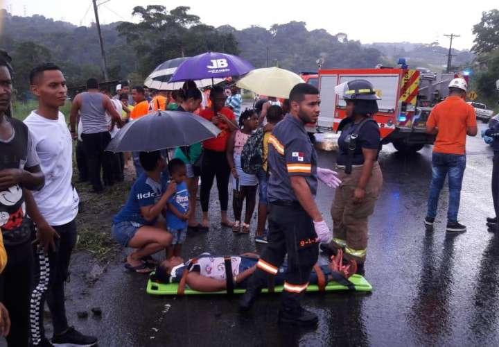 Accidente de diablo deja 15 heridos