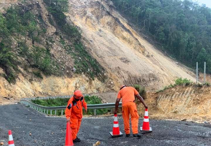 Deslizamiento de tierra en Coclé