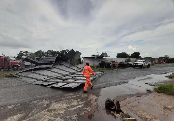 Fuertes vientos y lluvia provocan desprendimiento de techos y caída de árboles
