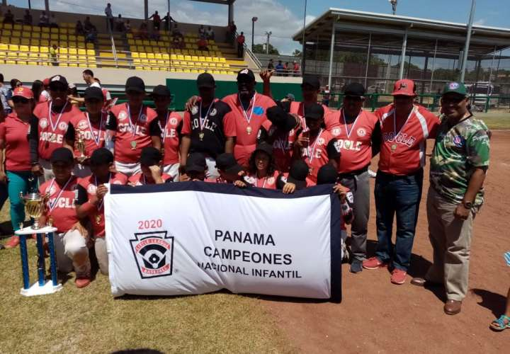 El equipo de Coclé ganó el Campeonato Nacional de Béisbol Infantil de este año.