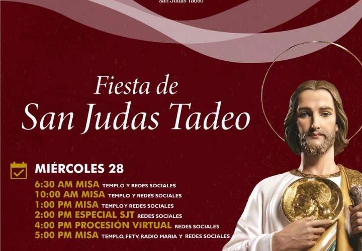 Devotos rinden honor a San Judas Tadeo