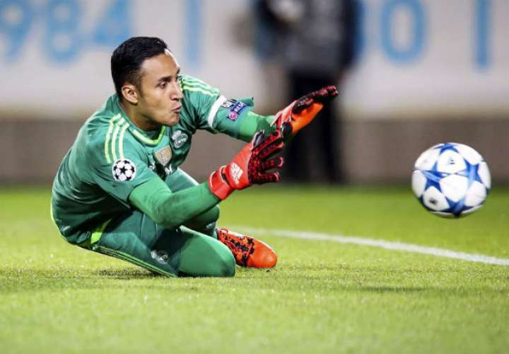 El portero del Real Madrid Keylor Navas. Foto: EFE