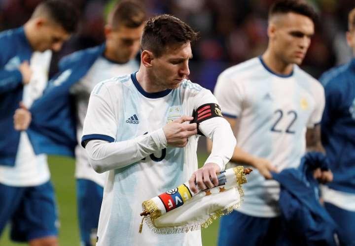 El delantero de la selección Argentina, Leo Messi, antes del encuentro amistoso que disputaron frente al combinado de Venezuela./ EFE