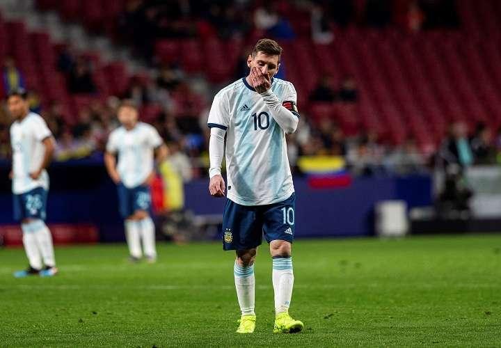 El delantero de Argentina Leo Messi durante el encuentro amistoso que Argentina y Venezuela. Foto: EFE