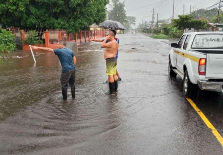 Inundaciones por fuertes lluvias en Chiriquí