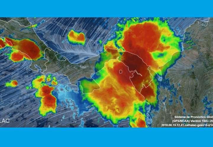 Sistema de mal tiempo azota la capital, Panamá Oeste, Coclé, Colón y Azuero