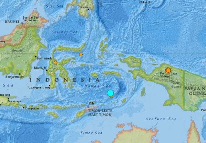 Terremoto de magnitud 7,3 sacude el mar de Banda en el este de Indonesia