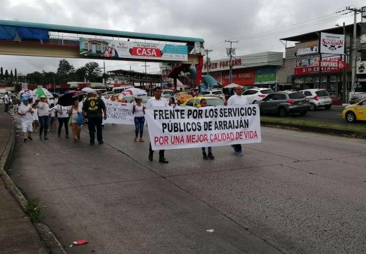 Arraijaneños protestan por mala calidad de los servicios