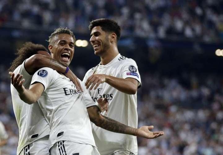Mariano Díaz marcó un golazo. /AP