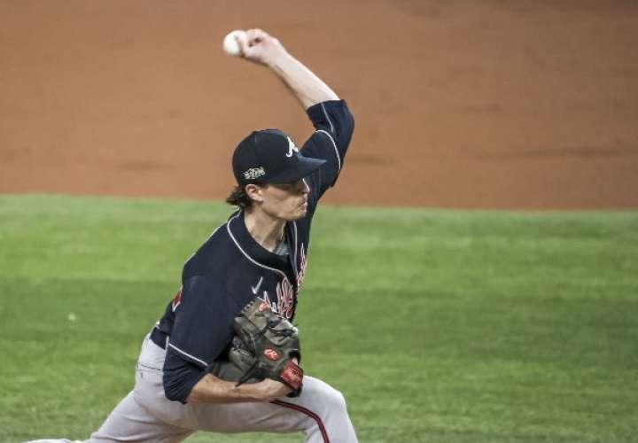 Max Fried dominó a la ofensiva de los Dodgers de Los Angeles. Foto: AP