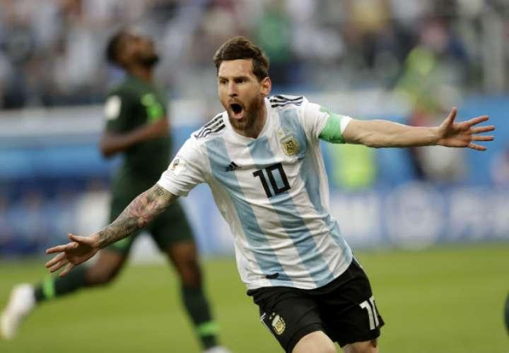 El jugador estrella de la selección de Argentina. Foto: AP