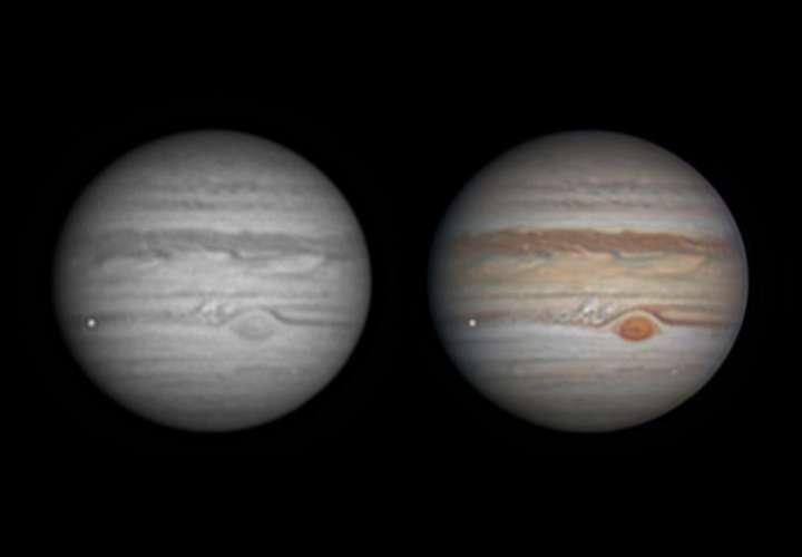 Un aficionado capta el momento justo en que un meteorito explota en Júpiter