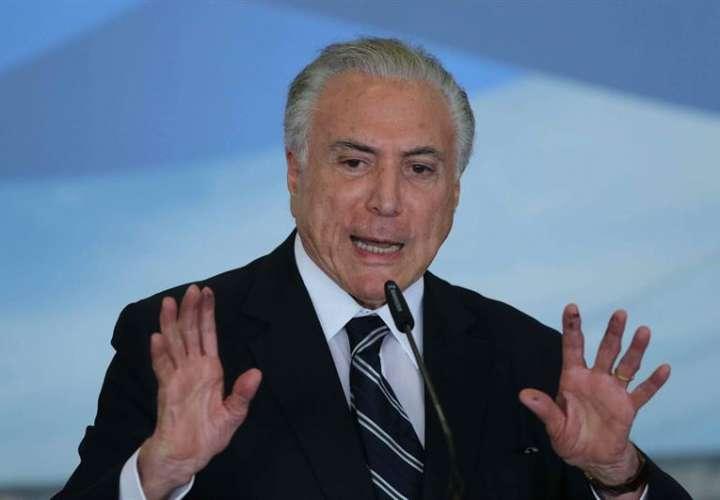 Michel Temer, presidente de Brasil. EFEArchivo