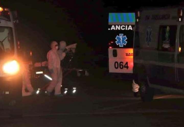 Transportistas de carga es traslado a hotel hospital