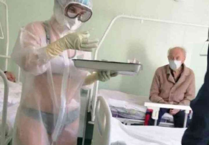 Enfermera que activó con sus curvas a pacientes de Covid19 se volvió modelo