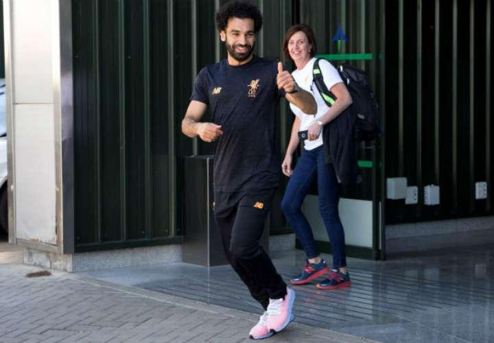 El jugador Mohamed Salah del Liverpool inglés. Foto: EFE