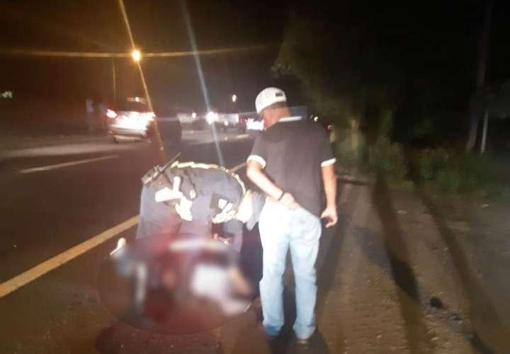 Vista general de la escena del accidente. Foto: Cortesía