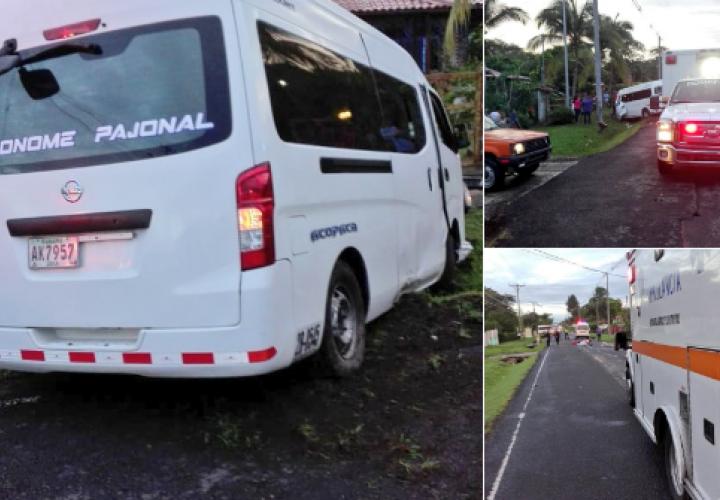 Dos muertos por colisión entre bus y moto en Coclé