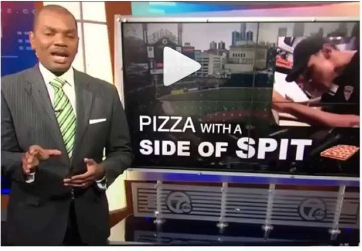¡Asqueroso! Escupió pizza que repartiría, lo grabó y ahora podría ir preso