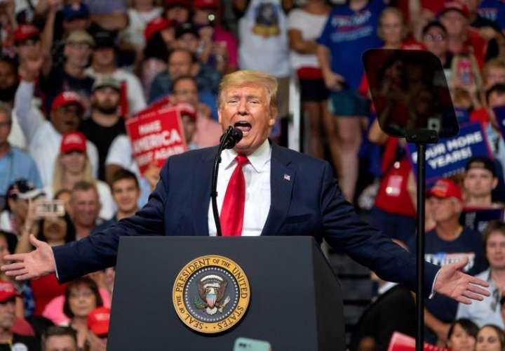 El presidente de Estados Unidos, Donald J. Trump, habla durante su anuncio de la reelección de 2020 en Orlando, Florida, EE.UU., el 18 de junio de 2019. EFE