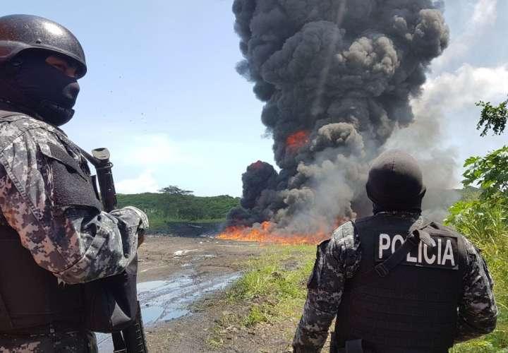 Buscan prohibir quema de drogas a cielo abierto en La Chorrera