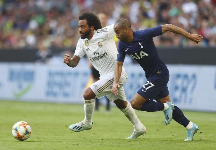 El Real Madrid, que ofreció una pobre imagen en su cuarto partido de la pretemporada. Foto: AP