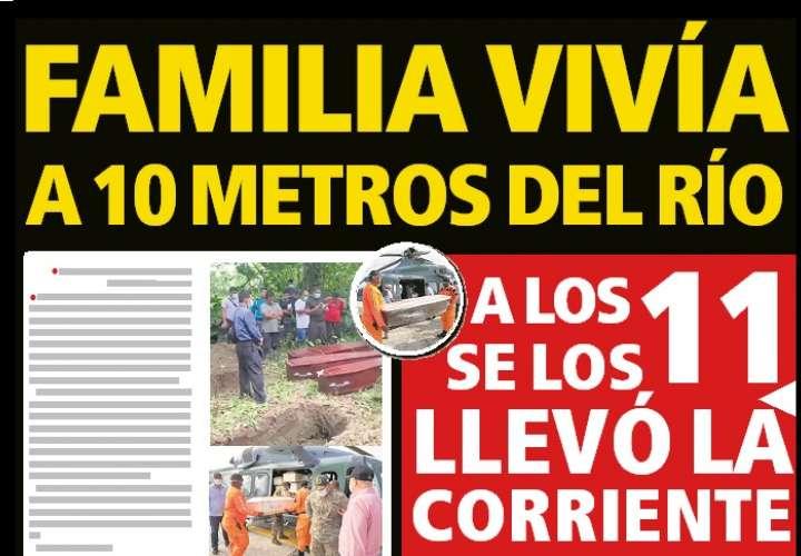 Lloran a los 11 familiares ahogados en tragedia de Veraguas