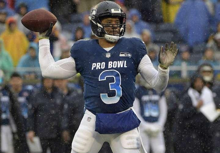 """Russell Wilson es actualmente el """"quarterback"""" de los Seattle Seahawks. Foto: AP"""