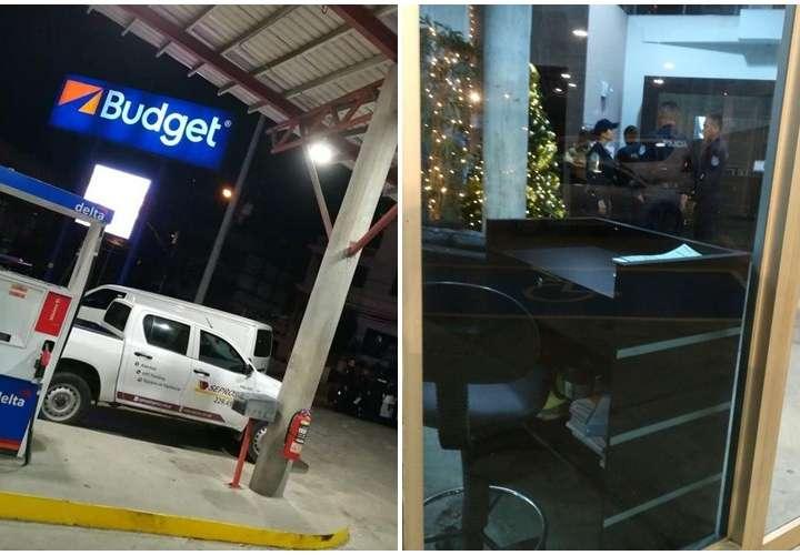 Seguridad herido en intento de robo en arrendadora de autos