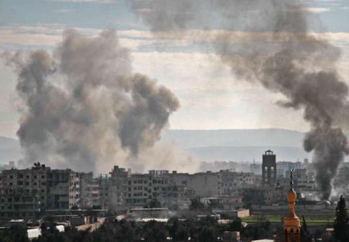 Al menos 11 civiles muertos en bombardeos de Damasco contra Idlib