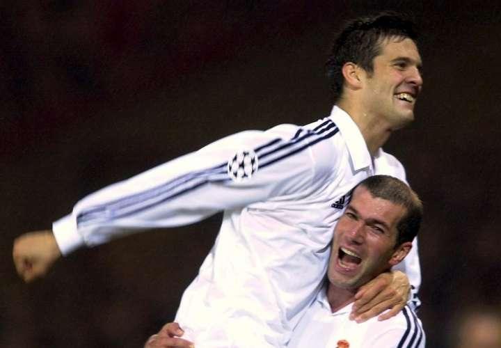 Santiago Solari vivió grandes momentos junto a Zinedine Zidane. /EFE