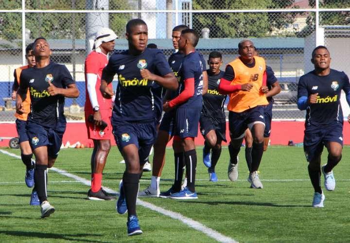 Entrenamientos de hoy lunes de la Sub-20 de Fútbol de Panamá. Foto: Fepafut