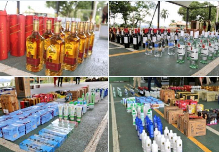 Decomisan licor y otras mercancías de contrabando en embarcación en Jaqué