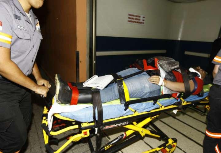 El motorizado permanece recluido en el hospital Santo Tomás. Foto: Alexander Santamaría