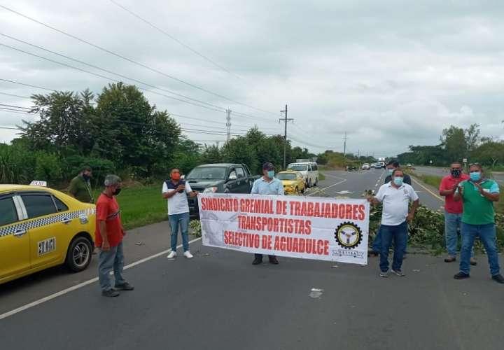 Aprovecharon la protesta para solicitarle al Gobierno que les entreguen bonos del programa Panamá Solidario.